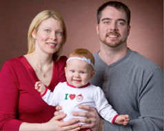 parents with child with hearing loss in both ears