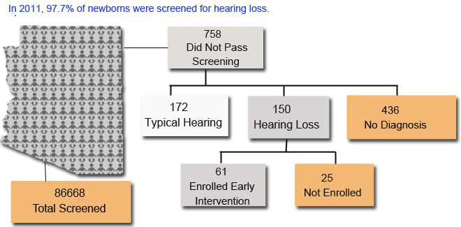 Arizona 2011 Hearing Screening Data